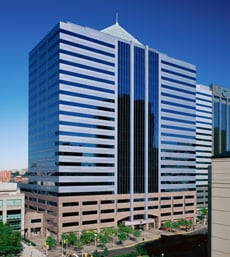 Verisk Analytics corporate headquarters is in the ISO Building in Jersey City, New Jersey.