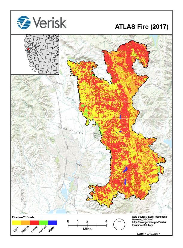 Verisk FireLine analysis of the Atlas Fire