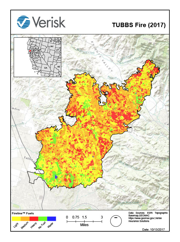 Verisk FireLine analysis of the Tubbs Fire